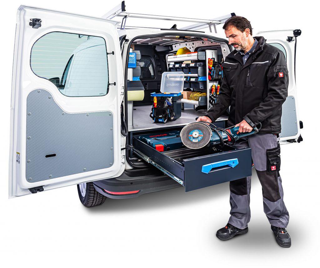 VW Caddy med Jumbo-Unit